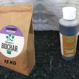 Biochar with wood vinegar