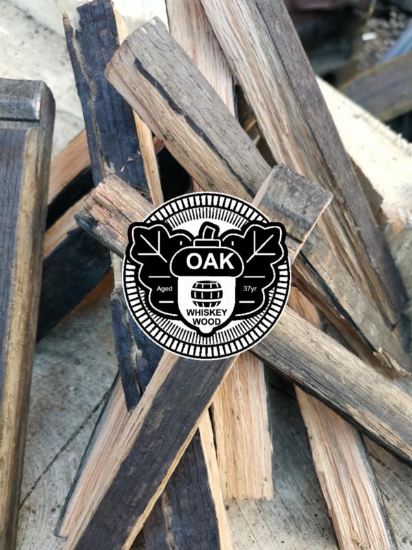 whiskey barrel little logs